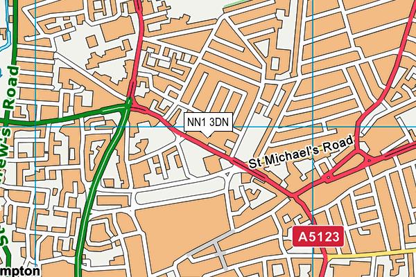 Mounts Baths Leisure Centre map (NN1 3DN) - OS VectorMap District (Ordnance Survey)