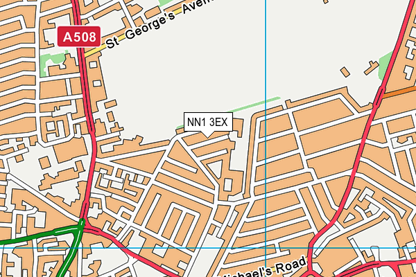 The CE Academy map (NN1 3EX) - OS VectorMap District (Ordnance Survey)