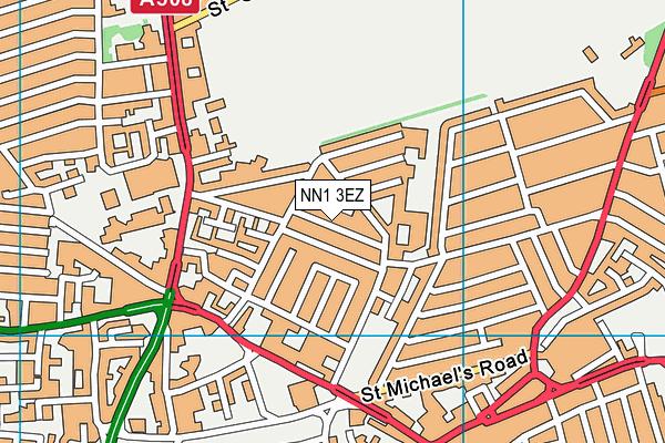 The Polish Club map (NN1 3EZ) - OS VectorMap District (Ordnance Survey)