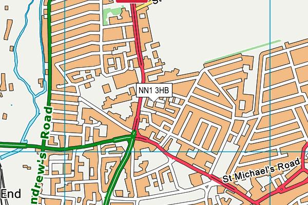 NN1 3HB map - OS VectorMap District (Ordnance Survey)