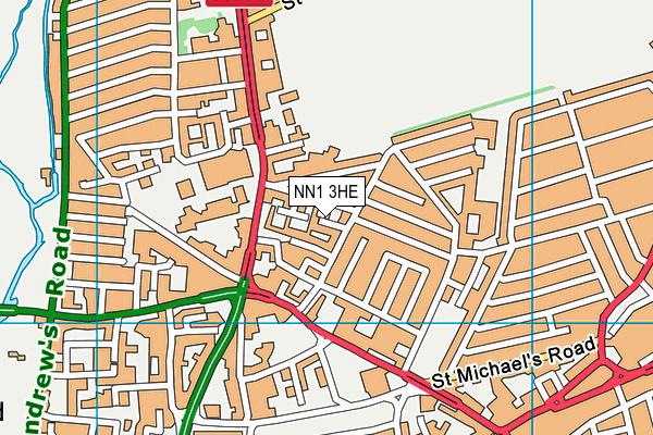 NN1 3HE map - OS VectorMap District (Ordnance Survey)