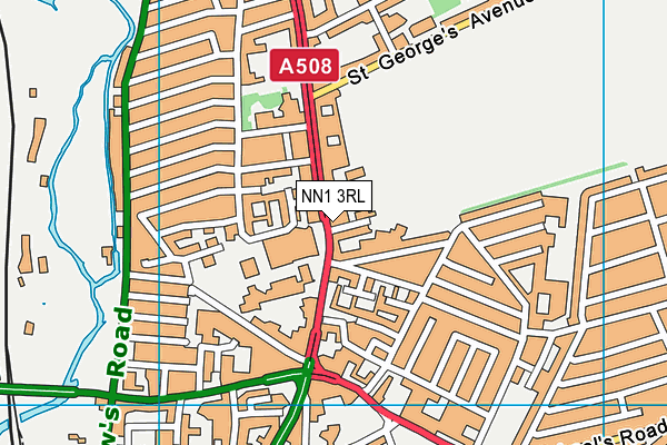 NN1 3RL map - OS VectorMap District (Ordnance Survey)