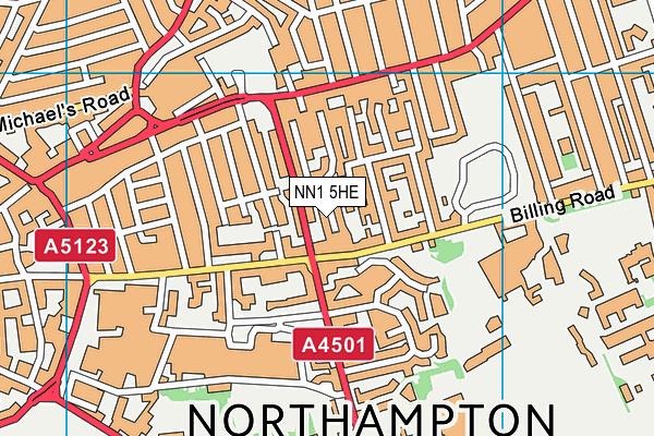 Vernon Terrace Primary School map (NN1 5HE) - OS VectorMap District (Ordnance Survey)