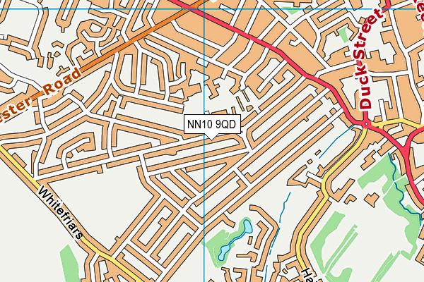Tennyson Road Infant School map (NN10 9QD) - OS VectorMap District (Ordnance Survey)
