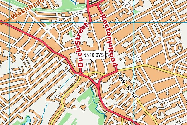 Alfred Street Junior School, Rushden map (NN10 9YS) - OS VectorMap District (Ordnance Survey)