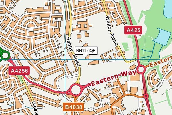 Daventry Hill School map (NN11 0QE) - OS VectorMap District (Ordnance Survey)