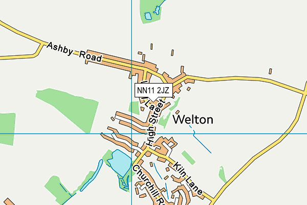 Welton Church of England Academy map (NN11 2JZ) - OS VectorMap District (Ordnance Survey)