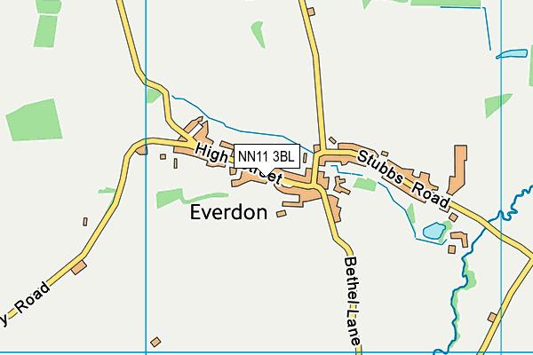 Everdon Village Hall map (NN11 3BL) - OS VectorMap District (Ordnance Survey)