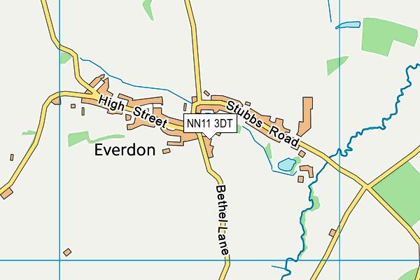 Everdon Cricket Ground map (NN11 3DT) - OS VectorMap District (Ordnance Survey)