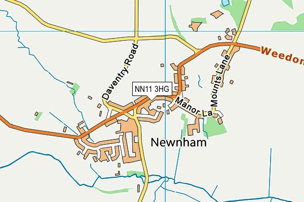 Newnham Primary School map (NN11 3HG) - OS VectorMap District (Ordnance Survey)