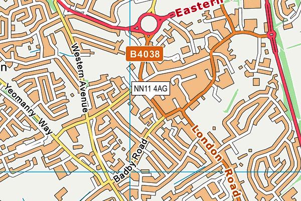 St James Infant School map (NN11 4AG) - OS VectorMap District (Ordnance Survey)