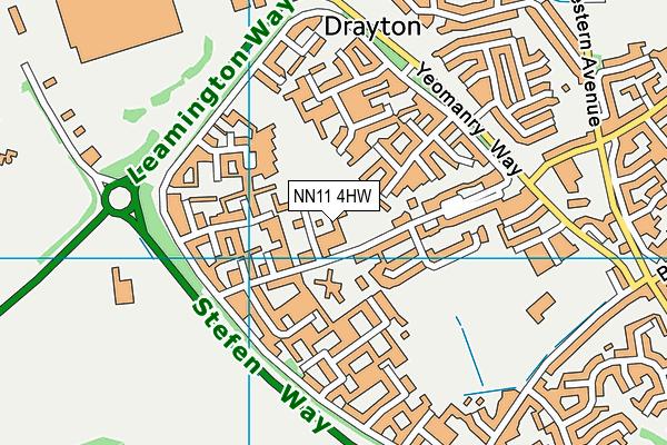 The Grange School, Daventry map (NN11 4HW) - OS VectorMap District (Ordnance Survey)