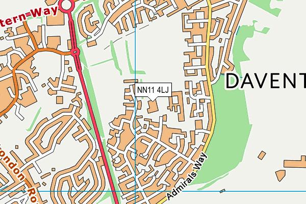 DSLV E-ACT Academy map (NN11 4LJ) - OS VectorMap District (Ordnance Survey)
