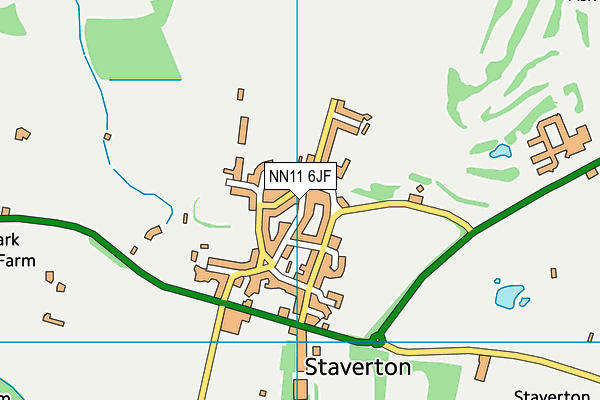 Staverton Church of England Voluntary Primary School map (NN11 6JF) - OS VectorMap District (Ordnance Survey)