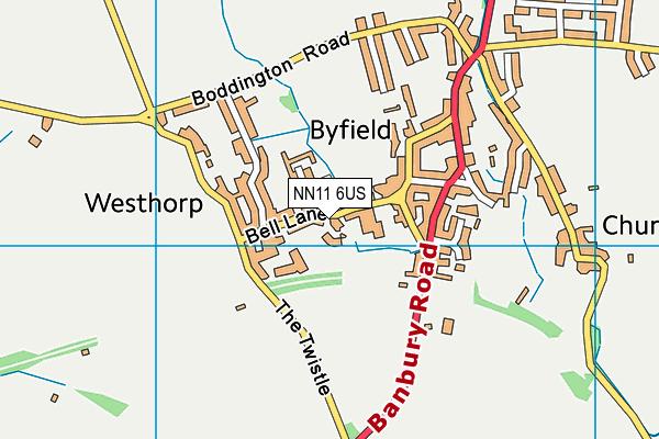 Byfield School map (NN11 6US) - OS VectorMap District (Ordnance Survey)