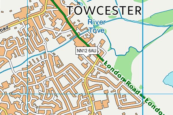 Towcester Church of England Primary School map (NN12 6AU) - OS VectorMap District (Ordnance Survey)