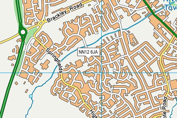 Nicholas Hawksmoor Primary School map (NN12 6JA) - OS VectorMap District (Ordnance Survey)