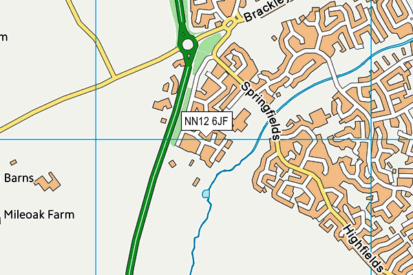 NN12 6JF map - OS VectorMap District (Ordnance Survey)