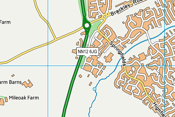 NN12 6JG map - OS VectorMap District (Ordnance Survey)