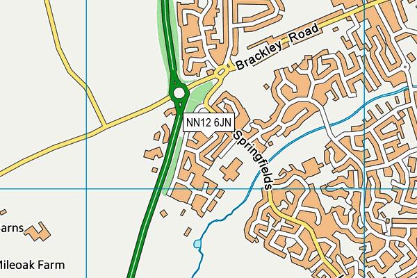 NN12 6JN map - OS VectorMap District (Ordnance Survey)