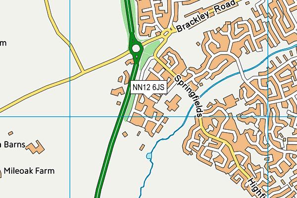 NN12 6JS map - OS VectorMap District (Ordnance Survey)