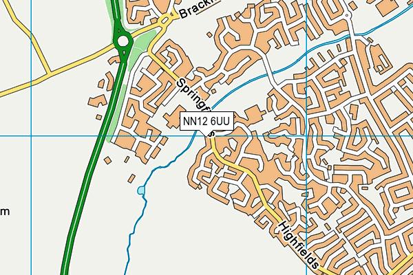 NN12 6UU map - OS VectorMap District (Ordnance Survey)