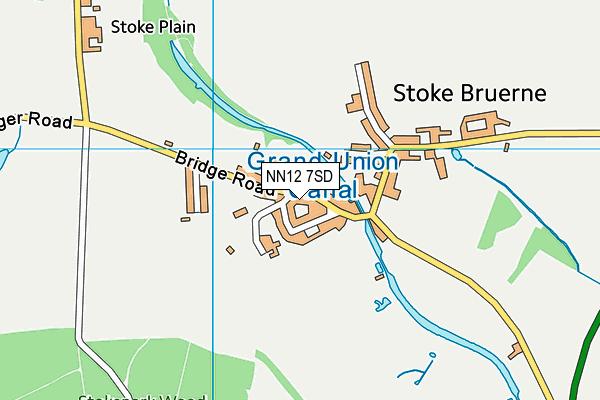 Stoke Bruerne Church of England Primary School map (NN12 7SD) - OS VectorMap District (Ordnance Survey)