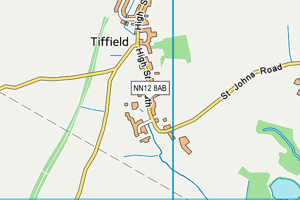 Tiffield Church of England Voluntary Aided Primary School map (NN12 8AB) - OS VectorMap District (Ordnance Survey)