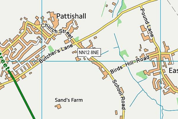 Pattishall Church of England Primary School map (NN12 8NE) - OS VectorMap District (Ordnance Survey)