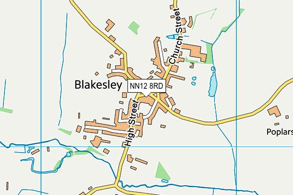 Blakesley Church of England Primary School map (NN12 8RD) - OS VectorMap District (Ordnance Survey)