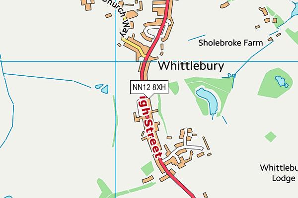 Whittlebury Church of England Primary School map (NN12 8XH) - OS VectorMap District (Ordnance Survey)