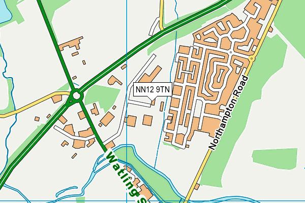 NN12 9TN map - OS VectorMap District (Ordnance Survey)