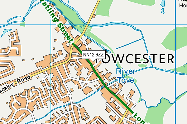 NN12 9ZZ map - OS VectorMap District (Ordnance Survey)