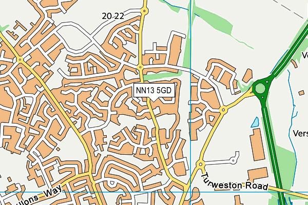 NN13 5GD map - OS VectorMap District (Ordnance Survey)