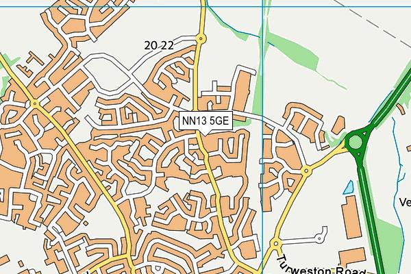 NN13 5GE map - OS VectorMap District (Ordnance Survey)