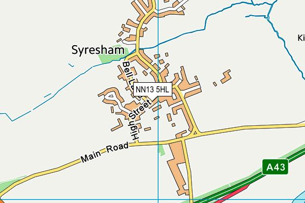 Syresham St James CofE Primary School and Nursery map (NN13 5HL) - OS VectorMap District (Ordnance Survey)