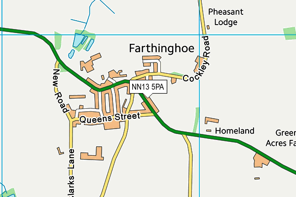 Farthinghoe Primary School map (NN13 5PA) - OS VectorMap District (Ordnance Survey)