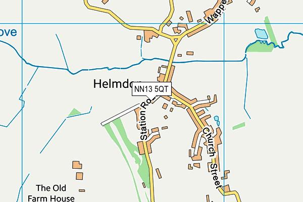 Helmdon Primary School map (NN13 5QT) - OS VectorMap District (Ordnance Survey)
