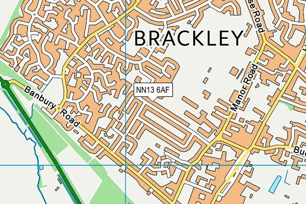 Waynflete Infants' School map (NN13 6AF) - OS VectorMap District (Ordnance Survey)