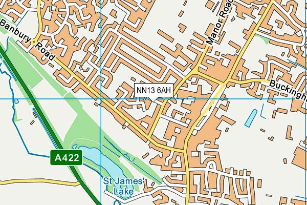 NN13 6AH map - OS VectorMap District (Ordnance Survey)