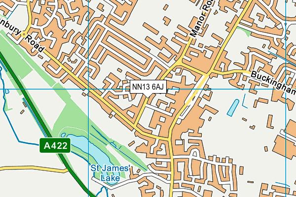 NN13 6AJ map - OS VectorMap District (Ordnance Survey)