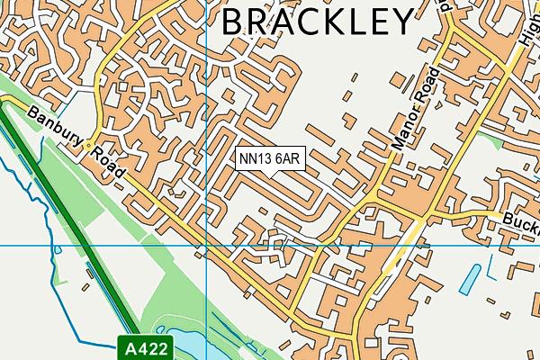 NN13 6AR map - OS VectorMap District (Ordnance Survey)