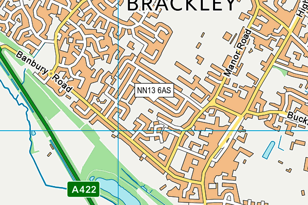 NN13 6AS map - OS VectorMap District (Ordnance Survey)