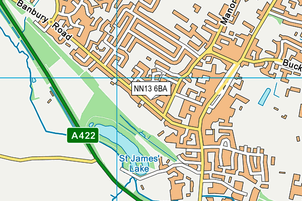 NN13 6BA map - OS VectorMap District (Ordnance Survey)