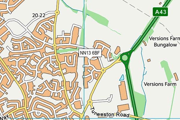 NN13 6BF map - OS VectorMap District (Ordnance Survey)