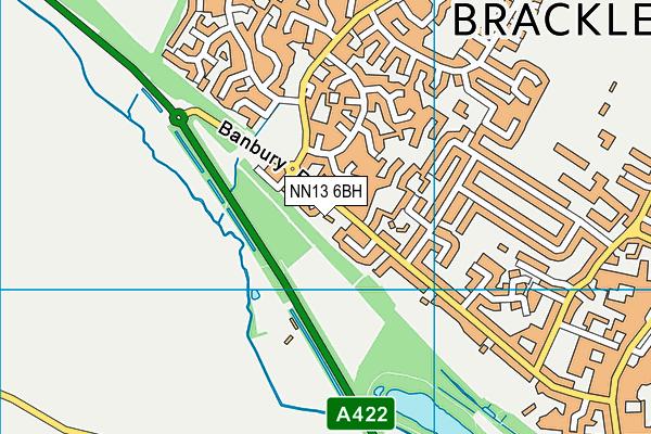 NN13 6BH map - OS VectorMap District (Ordnance Survey)