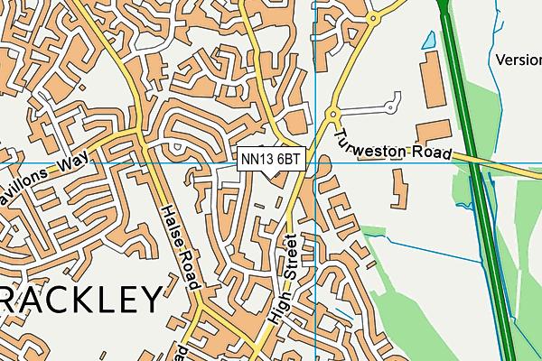 NN13 6BT map - OS VectorMap District (Ordnance Survey)