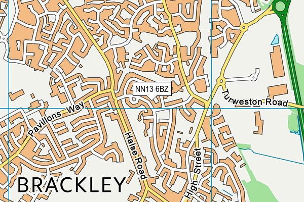 NN13 6BZ map - OS VectorMap District (Ordnance Survey)