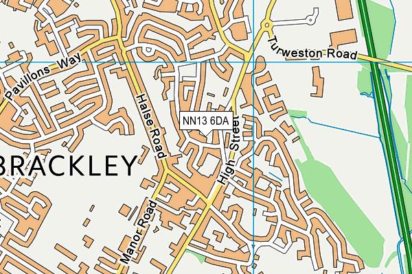 NN13 6DA map - OS VectorMap District (Ordnance Survey)
