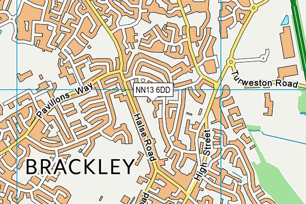 NN13 6DD map - OS VectorMap District (Ordnance Survey)